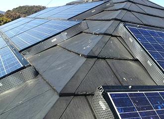 太陽光パネル隙間閉塞
