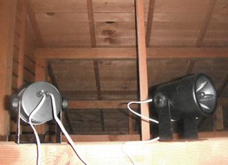 天井裏器材設置